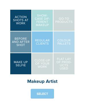 makeup artist content calendar