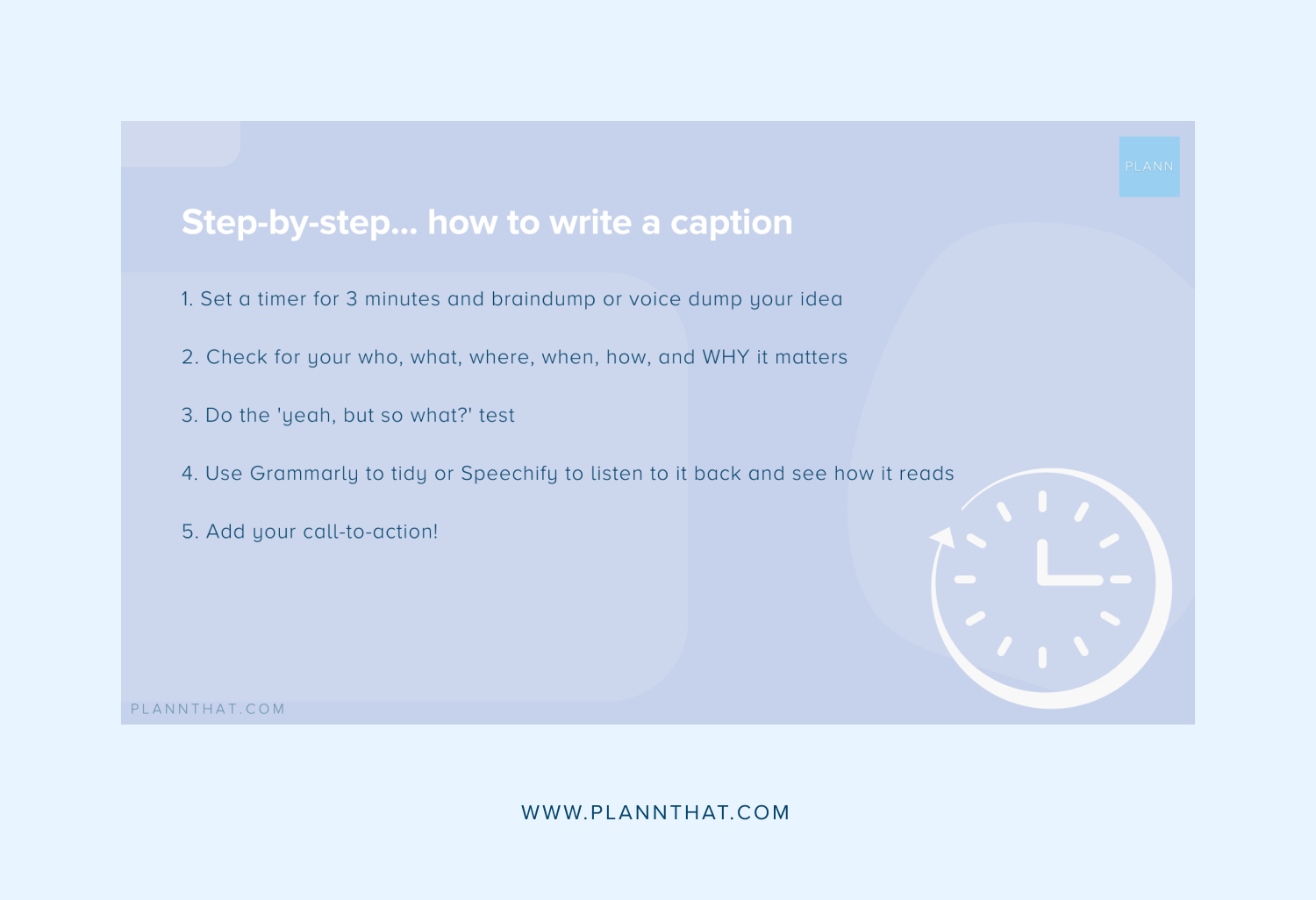Guide to writing captions