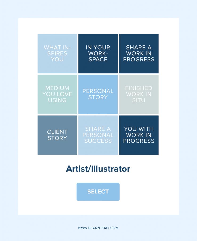 Plann Artists Content Prompts