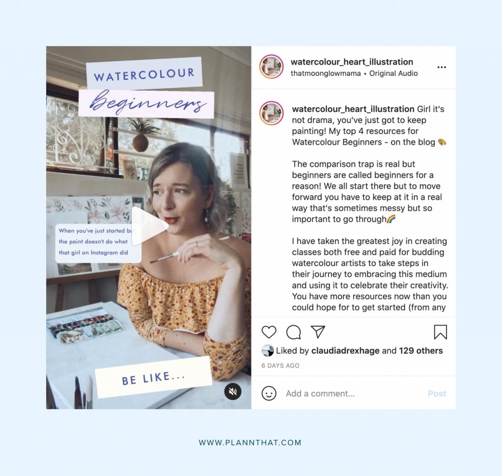 Instagram Artist Reel