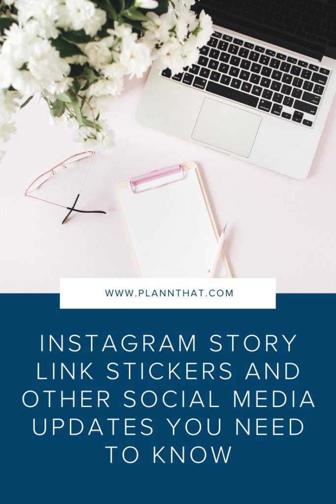 Instagram story link stickers