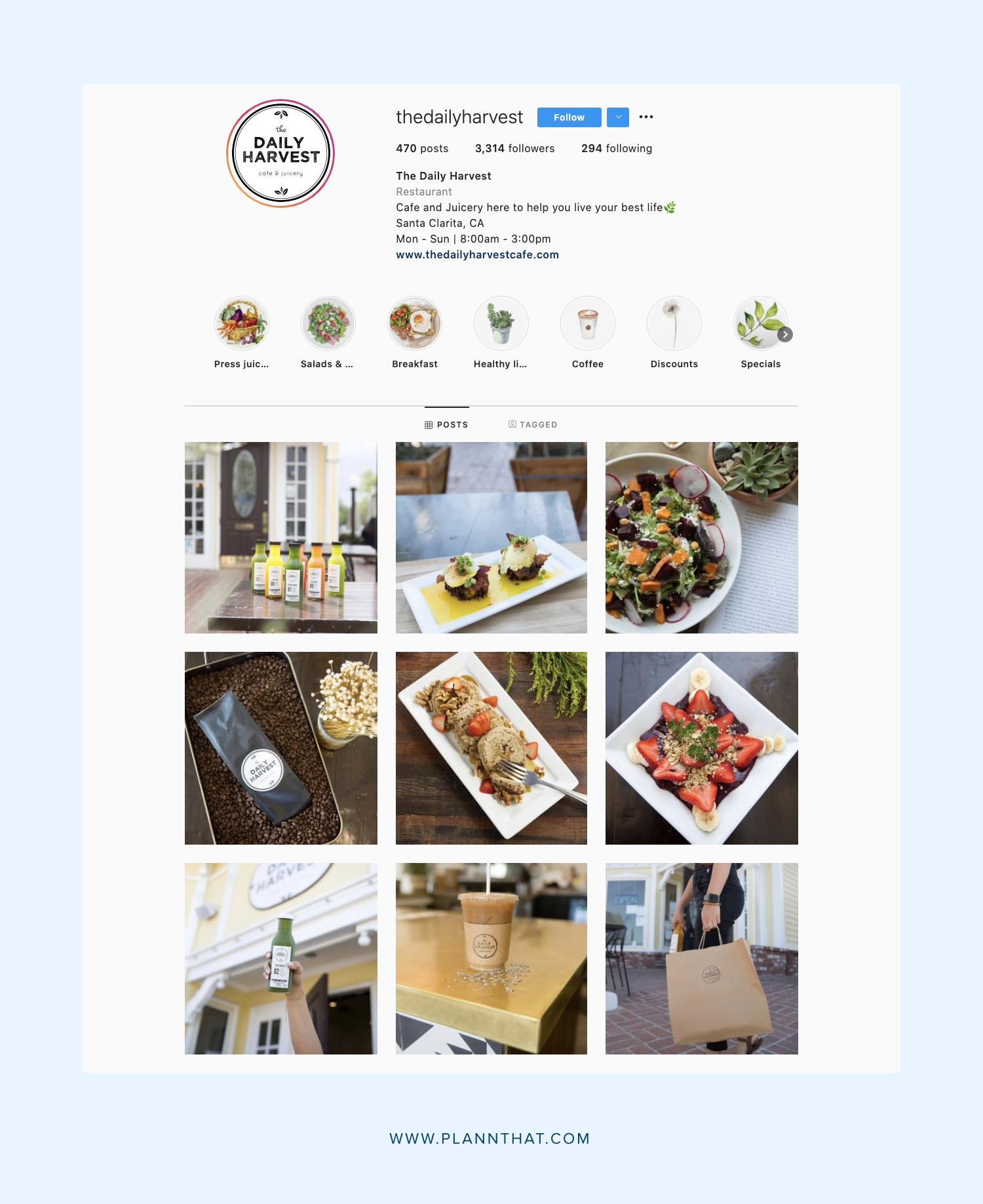 Instagram Food Account