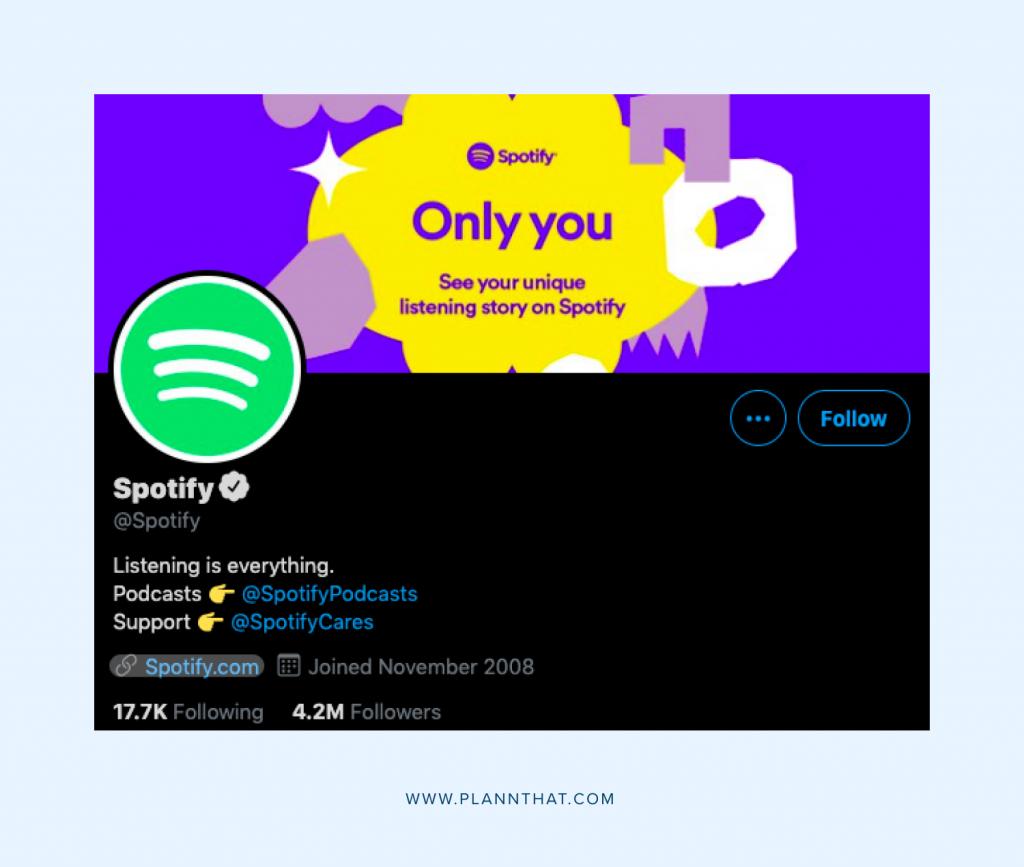 Optimize your social media profile Spotify