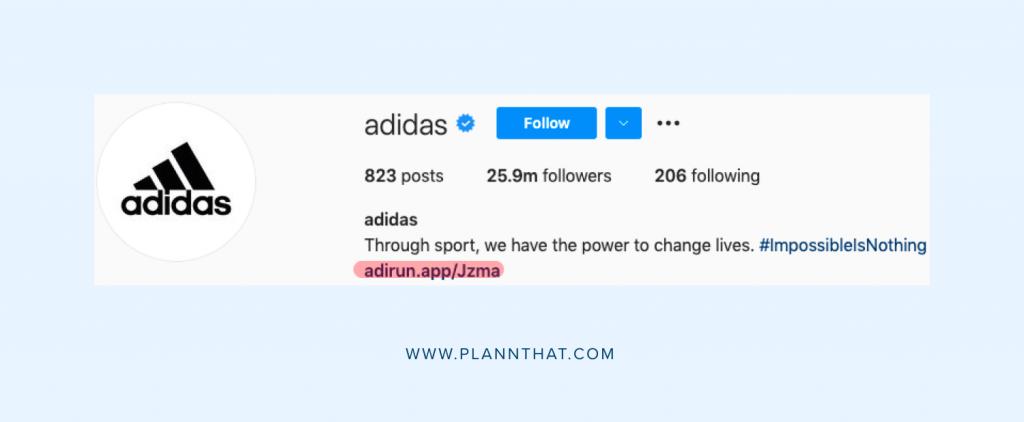 optimize your social media profile Adidas