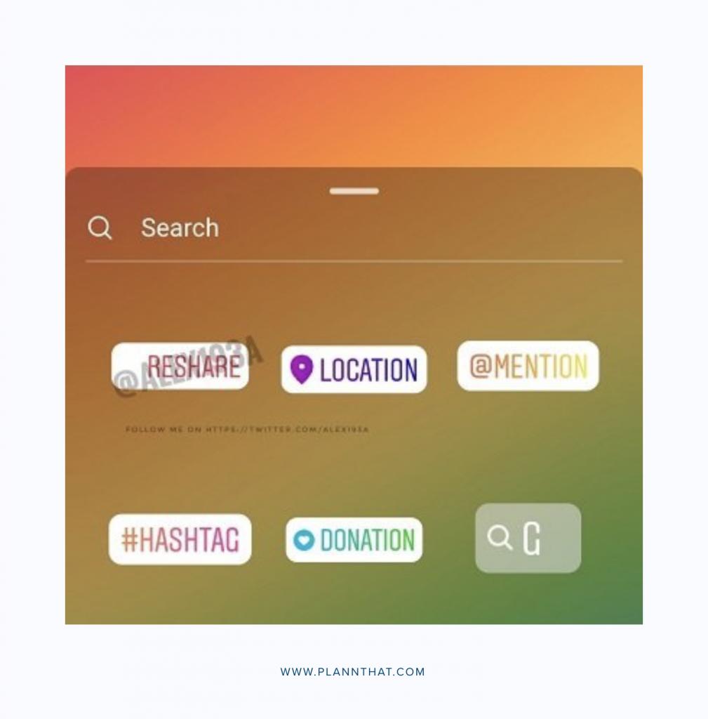 How does Instagram Reshare Sticker Work