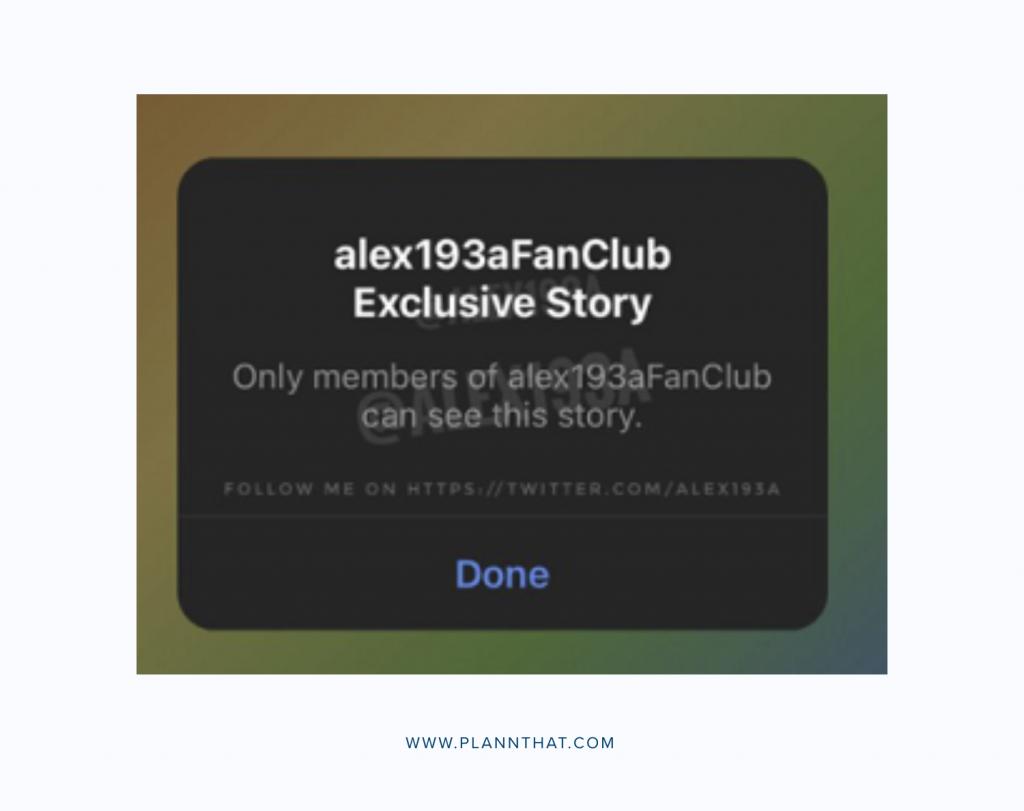 Instagram tests Fan Clubs